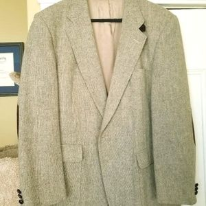 Barrington wool blazer with elbow patches